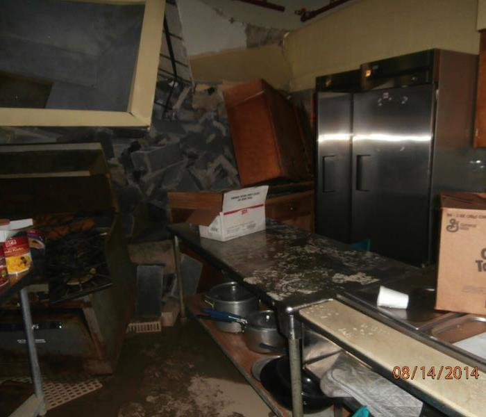 Water Damage – Grosse Pointe Church Foundation Col Before