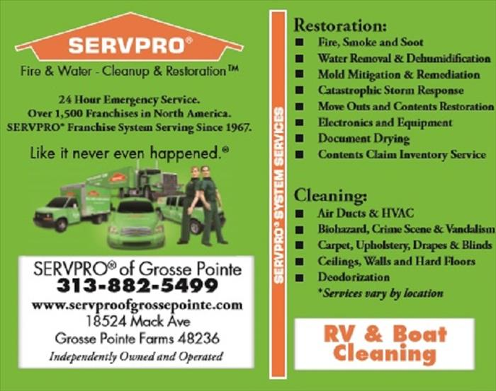 SERVPRO of Grosse Pointe Advertisment